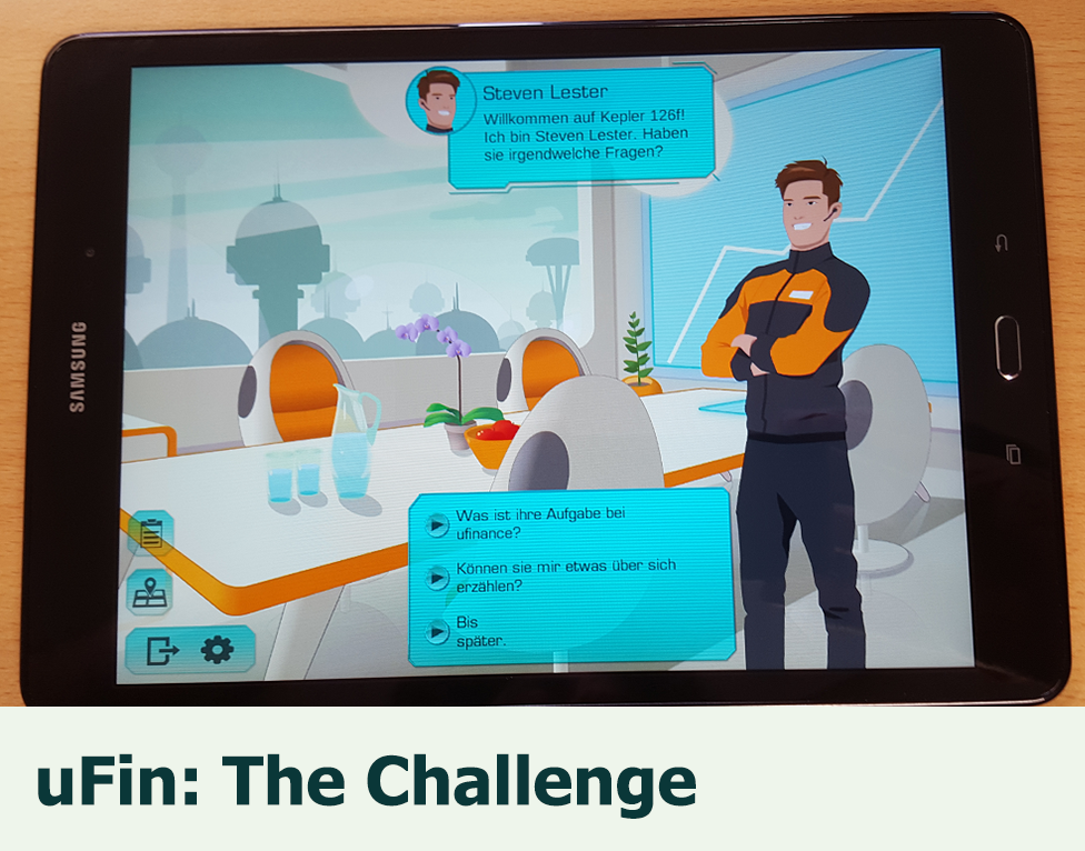 uFin: The Challenge: A combined survey and training game for students and employees working in the financial sector.
